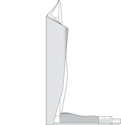 Al Hamra Tower Outline