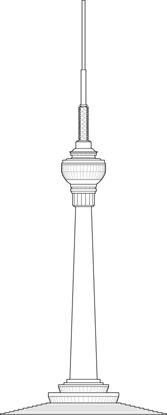 Central Radio & TV Tower Outline