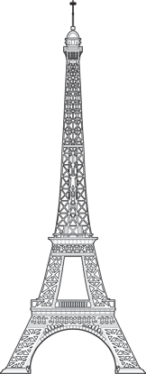 Eiffel Tower Outline