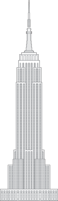 Empire State Building Outline