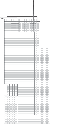 Le 1250 Boulevard Rene-Levesque Outline