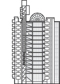 The Lloyd's Building Outline