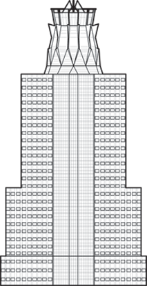 Memorial Hermann Tower Outline