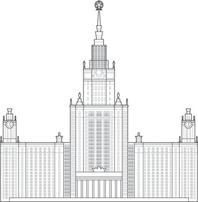 MV Lomonosov State University - The Skyscraper Center