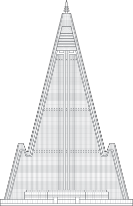Ryugyong Hotel Outline