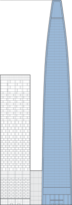 Tianjin Modern City Office Tower Outline