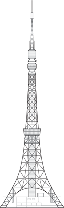 Tokyo Tower Outline