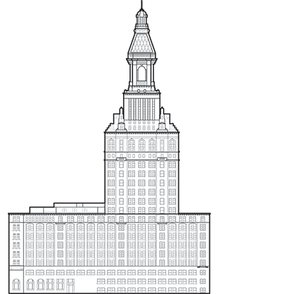 Travelers Tower Outline
