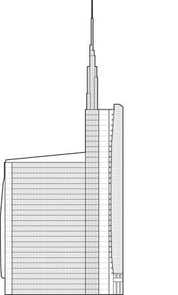 Unicredit Tower Outline