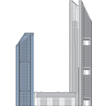 VietinBank Business Center Hotel Tower Outline