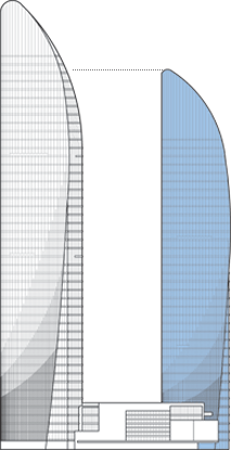 Xiamen Shimao Straits Tower A Outline