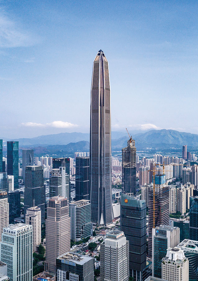 Ping An Finance Center, Shenzhen, China (599.1 meters)