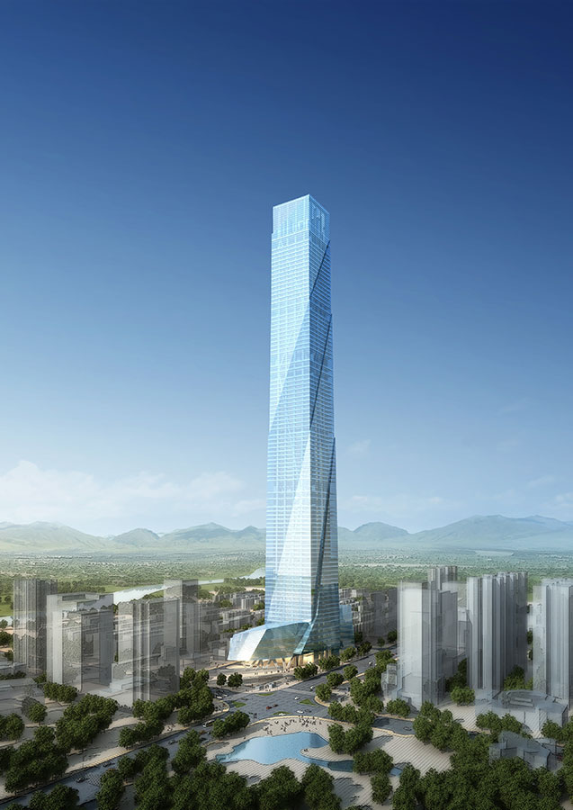 Kaisa Feng Long Centre, Shenzhen, China (500 meters)