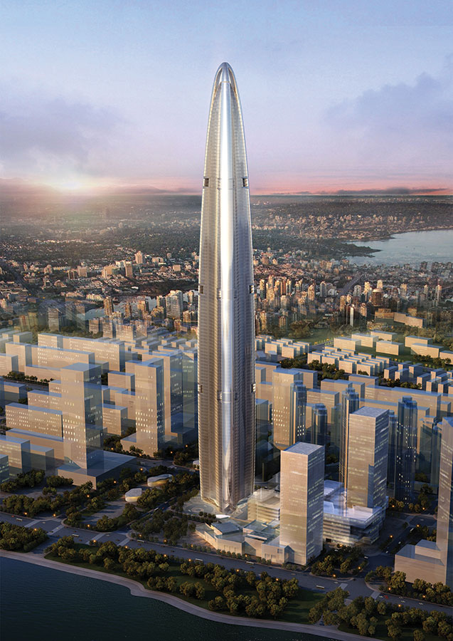 Wuhan Greenland Center, Wuhan, China ( 475.6 meters)