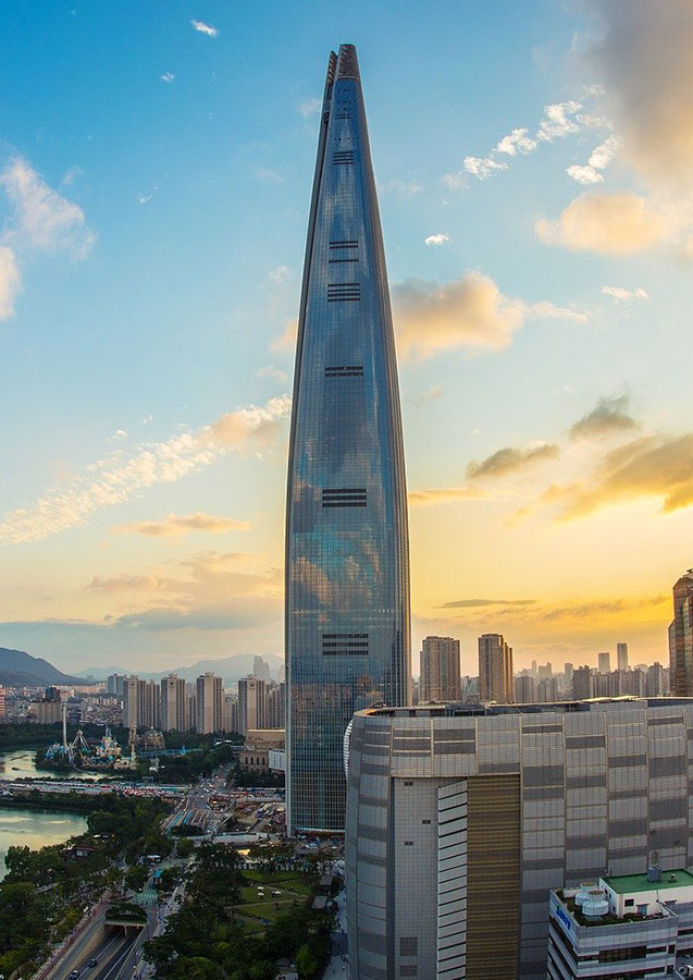 Lotte World Tower, Seoul, South Korea (554.5 meters)